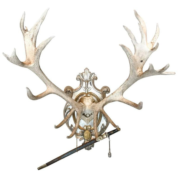19th Century Red Stag of Frederick II with Hirschfanger Hunt Sword