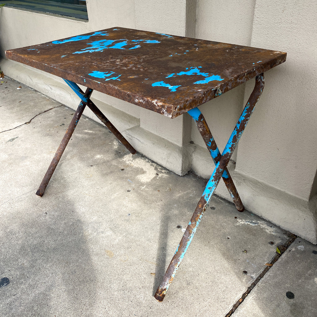 Vintage French Industrial Folding Table