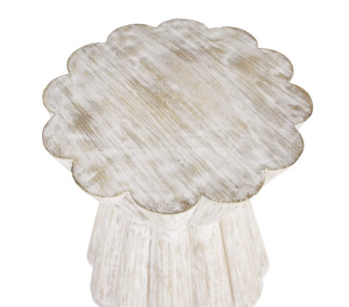 Annie Whitewashed Side Table