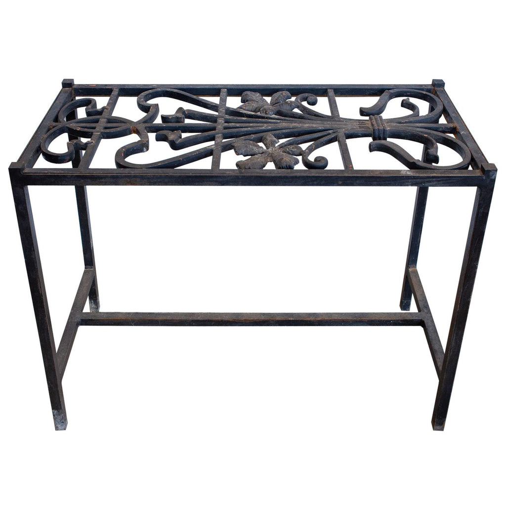 Antique French Iron Fragment Console Table (36-Inch)