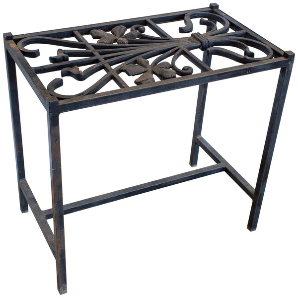 Antique French Iron Fragment Console Table (30-Inch)