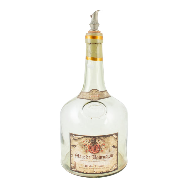 Antique French Spirits Bottle with Metal Spout