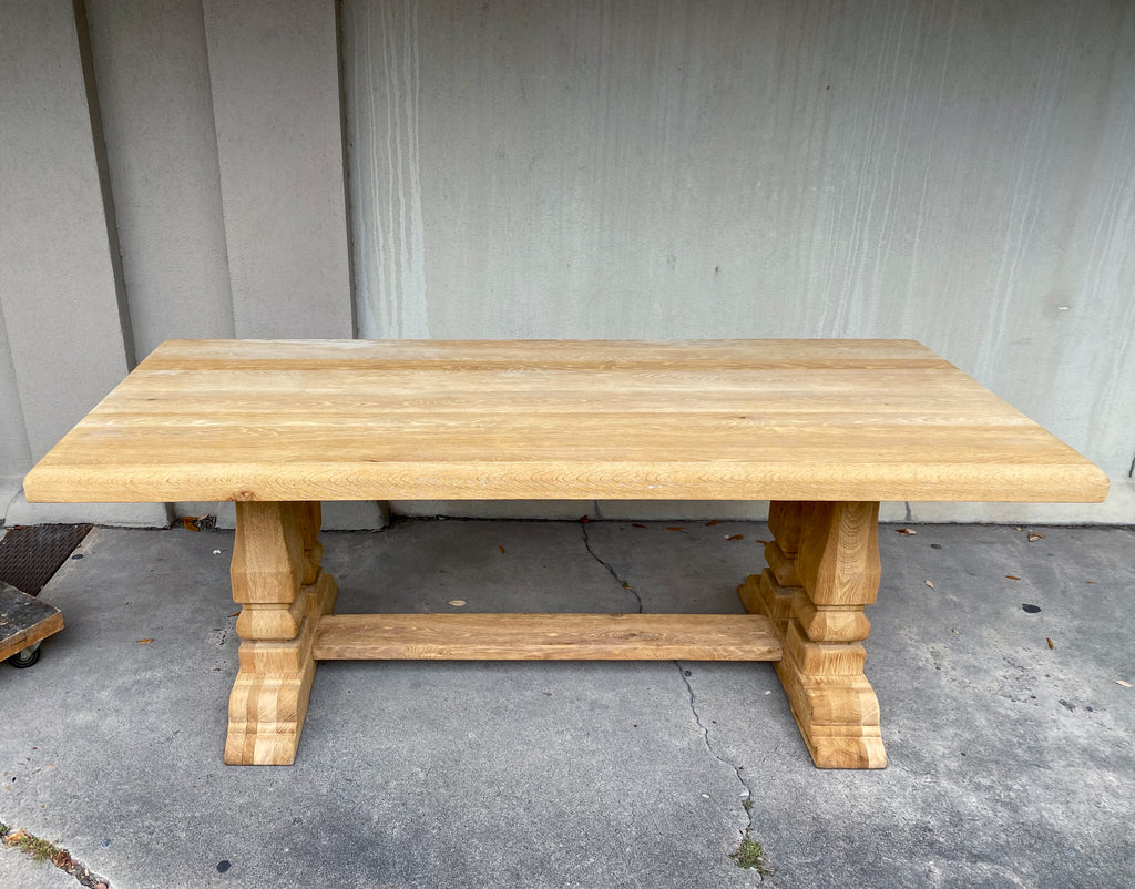 Antique Stripped Oak French Dining Table