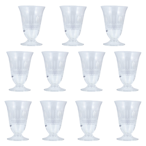 Set of Vintage French Crystal Aperitif Glasses