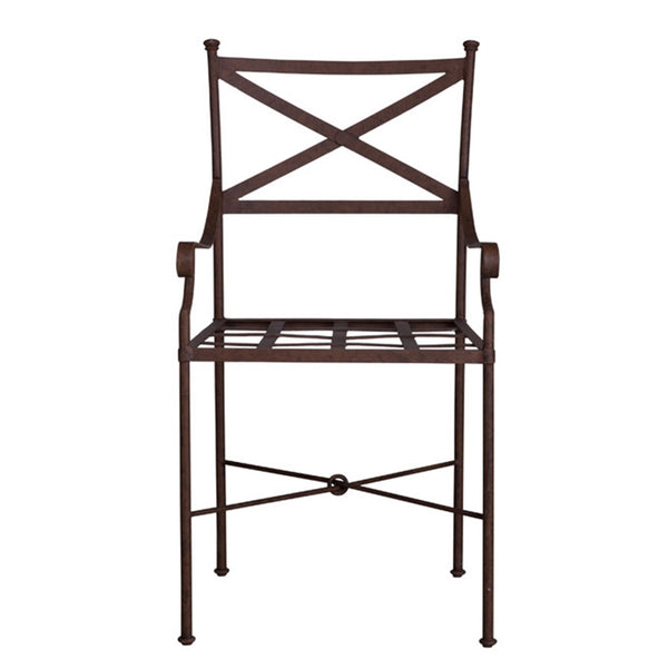 "Belgian Metal ""Jill"" Garden Chair in Rust"