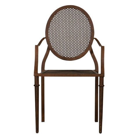 "Belgian Metal ""Mary"" Garden Chair in Rust"