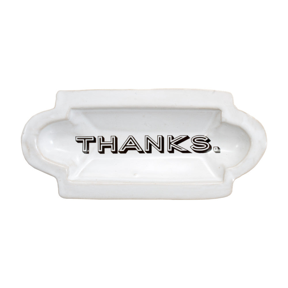 "Kuhn Keramik ""Thanks."" Tray"