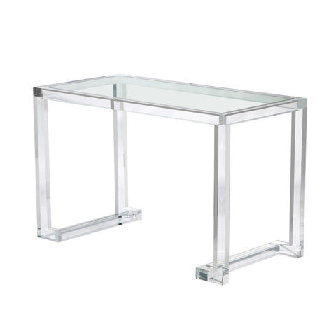 Ava Acrylic Desk with Glass Top