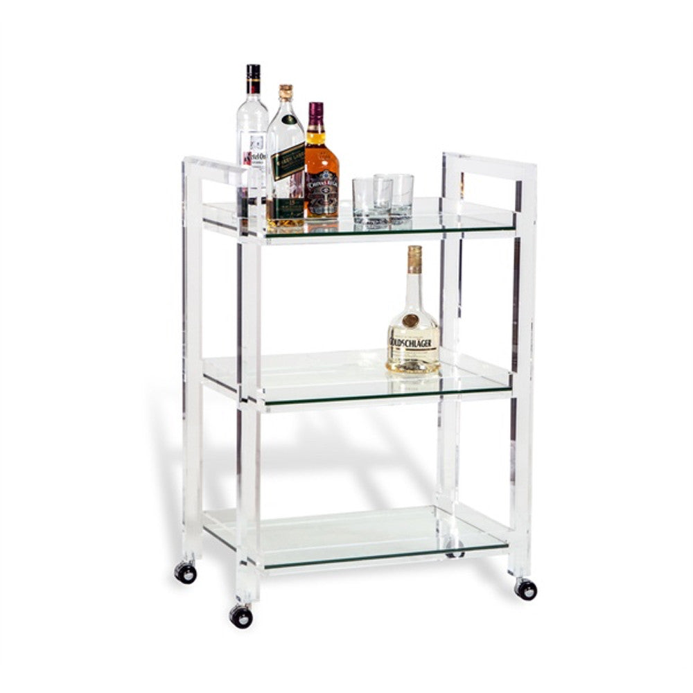 Ava Bar Cart - Clear