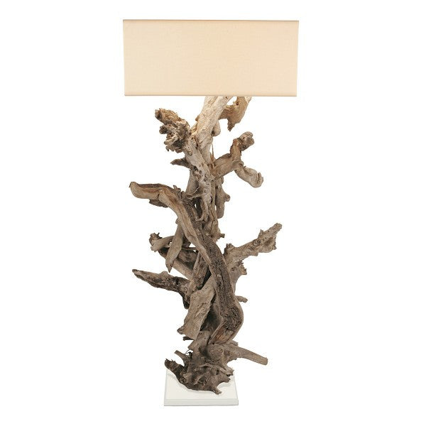 "Large Driftwood ""Egee"" Floor Lamp"