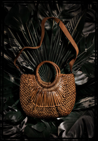 "Woven Leather ""Kenia"" Small Satchel by Federico Nardini"