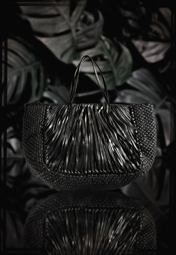 "Woven Leather ""Kenia"" Travel Tote by Federico Nardini"