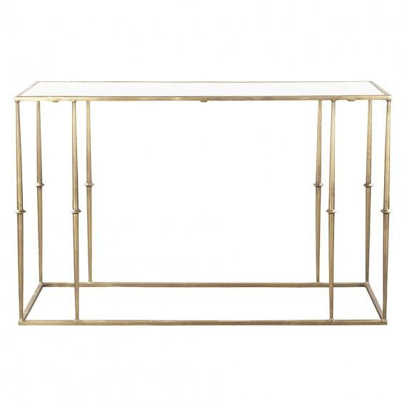 Glam Marble Top Console Table Laurier Blanc Unique