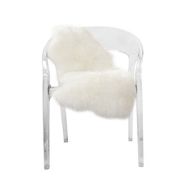 Clear Acrylic Chloe Chair Laurier Blanc Unique Home