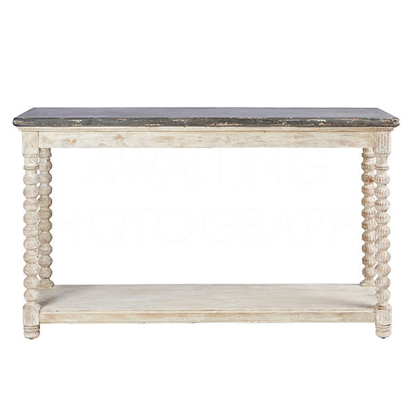 Montreuil Distressed Painted Wood Console