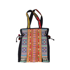 Hmong Embroidered Panel & Beaded Remnant Shoppers