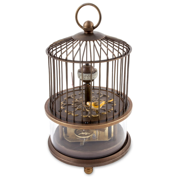 Vintage Moving Birdcage Clock