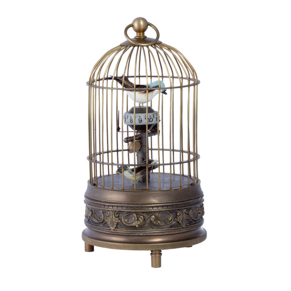 Vintage Moving Double Birdcage Clock