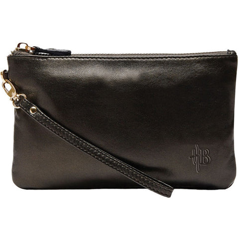 Mighty Purse Bronze Leather Clutch (Charge On The Go!)