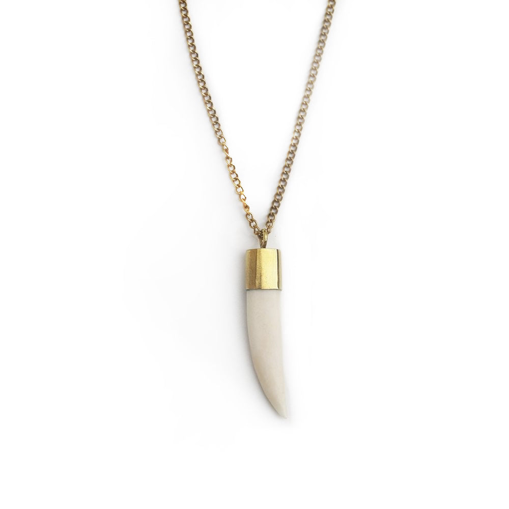 Bone Tooth Necklace by Meyelo