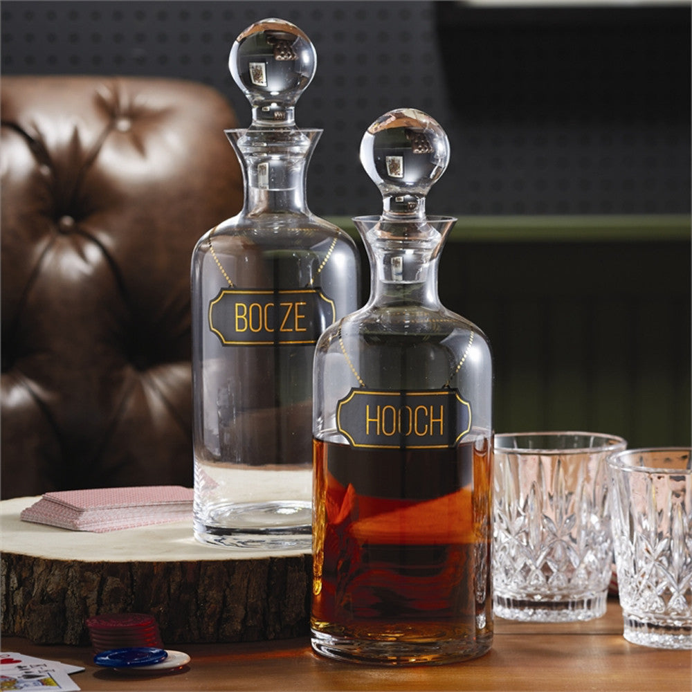 Glass Booze & Hooch Decanters
