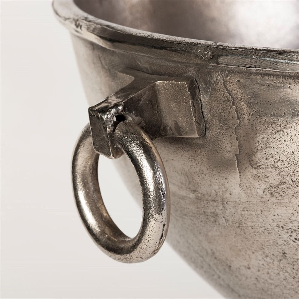 "Nickel Plated Oversized Belgian ""Andica"" Footed Wine Cooler"