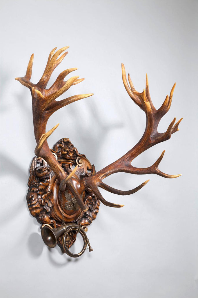 19th Century Red Stag from 1892 Eulenburg Hunt of Kaiser Wilhelm II