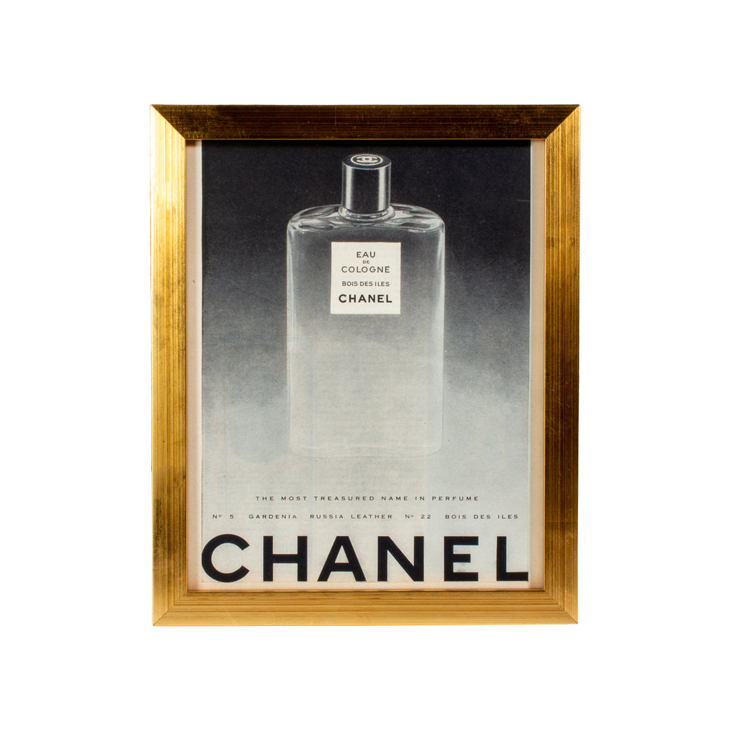 Vintage French Chanel Cologne Advertisement