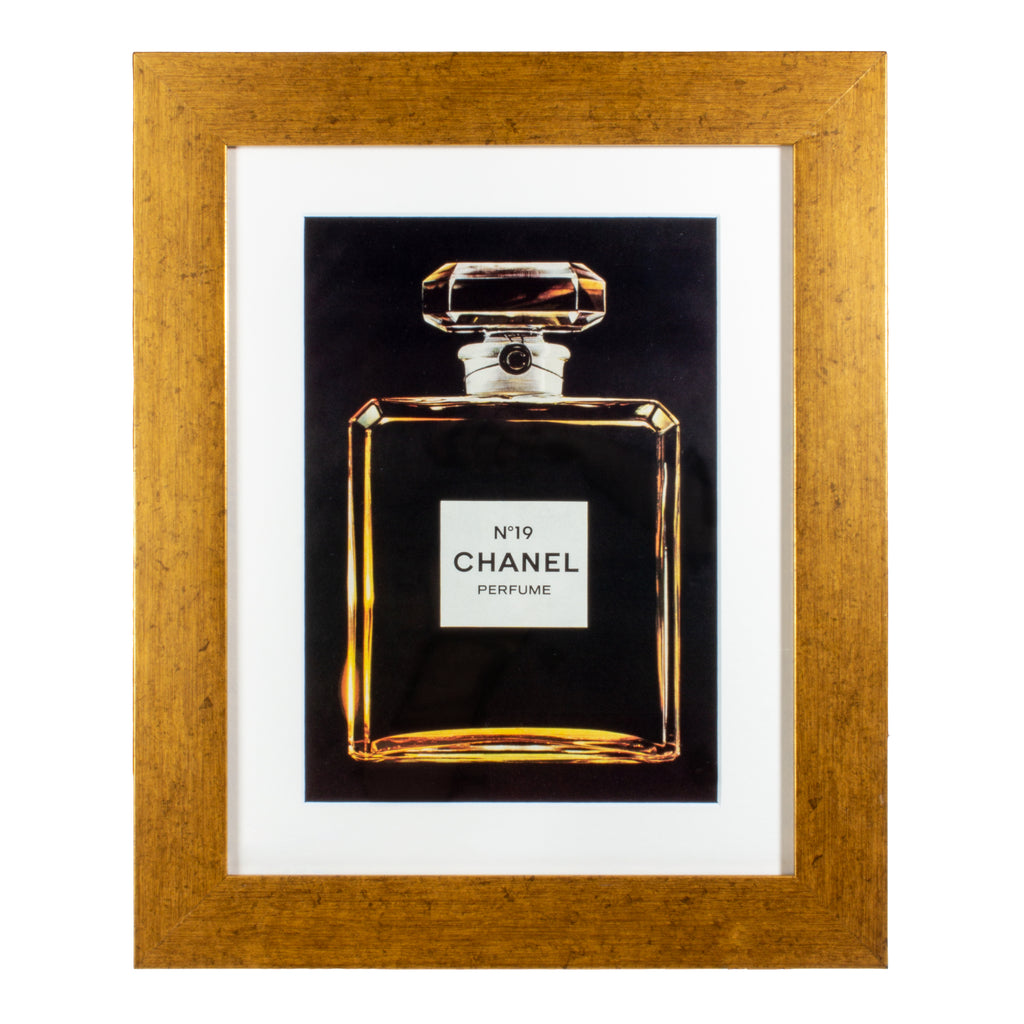 Vintage Framed Chanel Perfume Advertisement
