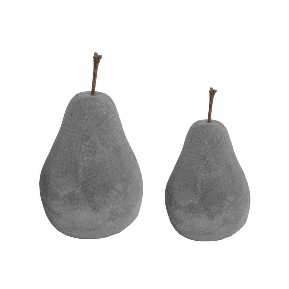 Cement Pear Decorations (Two Sizes)