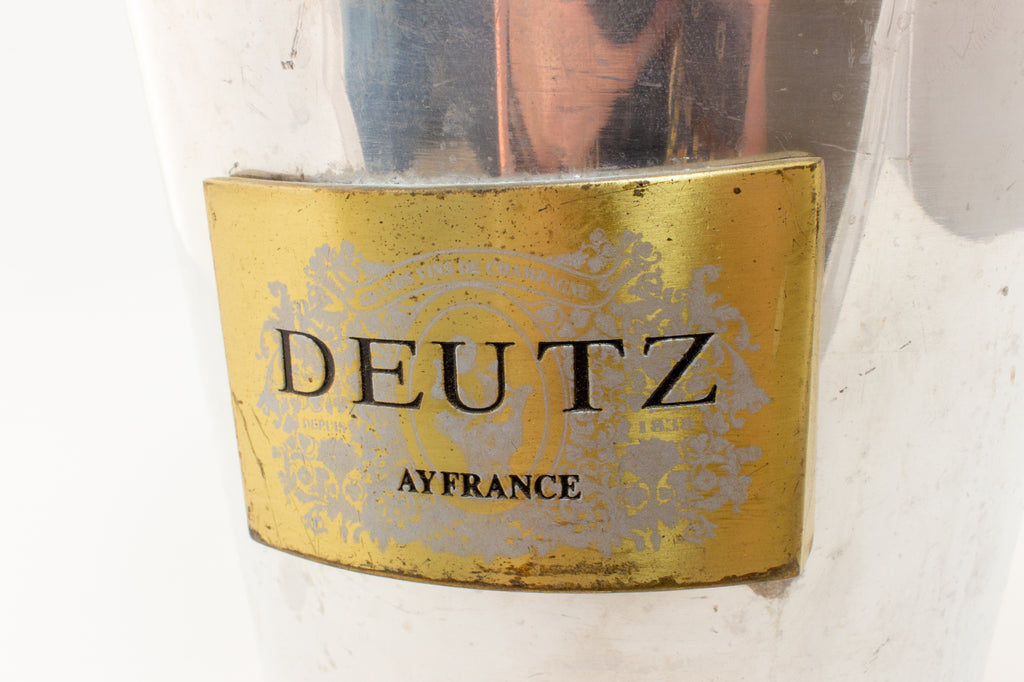 Vintage French Metal Ice Bucket | Deutz Label