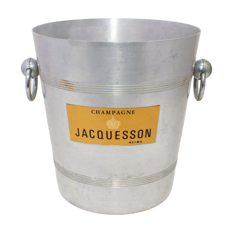 Vintage French Metal Ice Bucket | Jacquesson Label