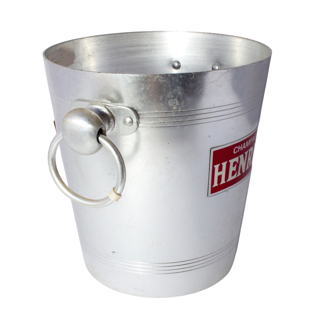 Vintage French Metal Ice Bucket | Henriot Label