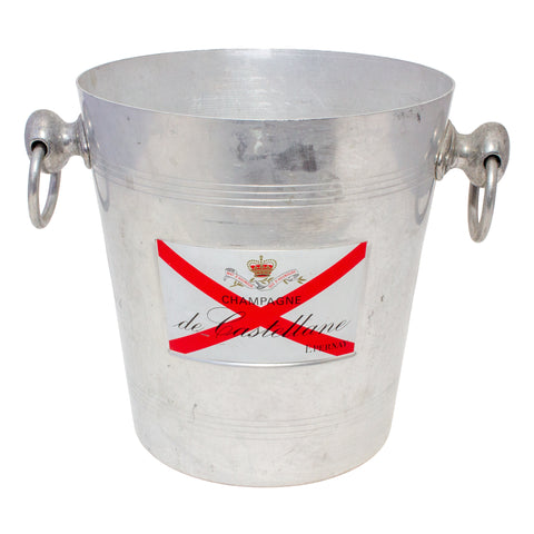 Vintage French Metal Ice Bucket | de Castellane Label