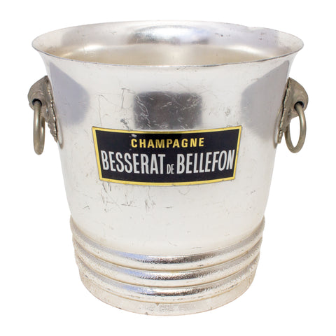 Vintage French Metal Ice Bucket | Besserat de Bellefon Label