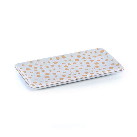 Rectangle Cheetah Dish