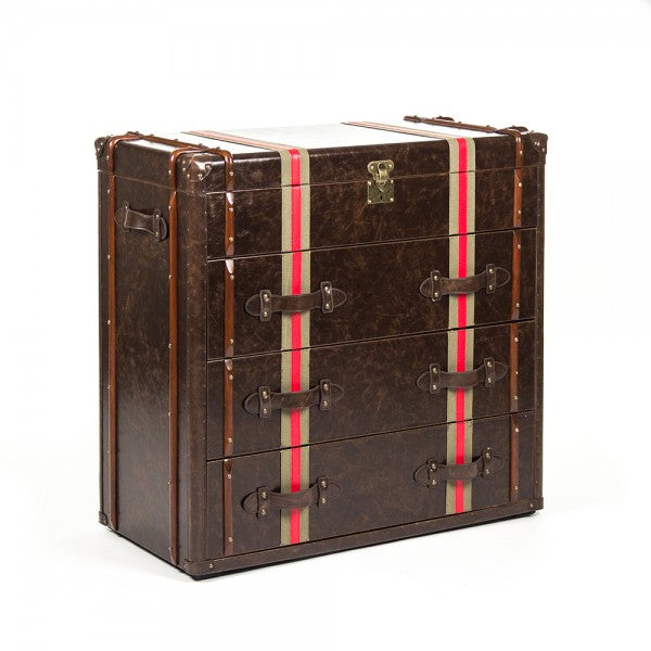 Alfie Brass & Wood Chest of Drawers