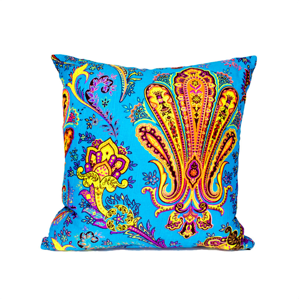 Colorful Thai Neon Floral & Paisley Pillow (3 colors available)
