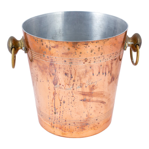 Vintage French Copper Ice Bucket