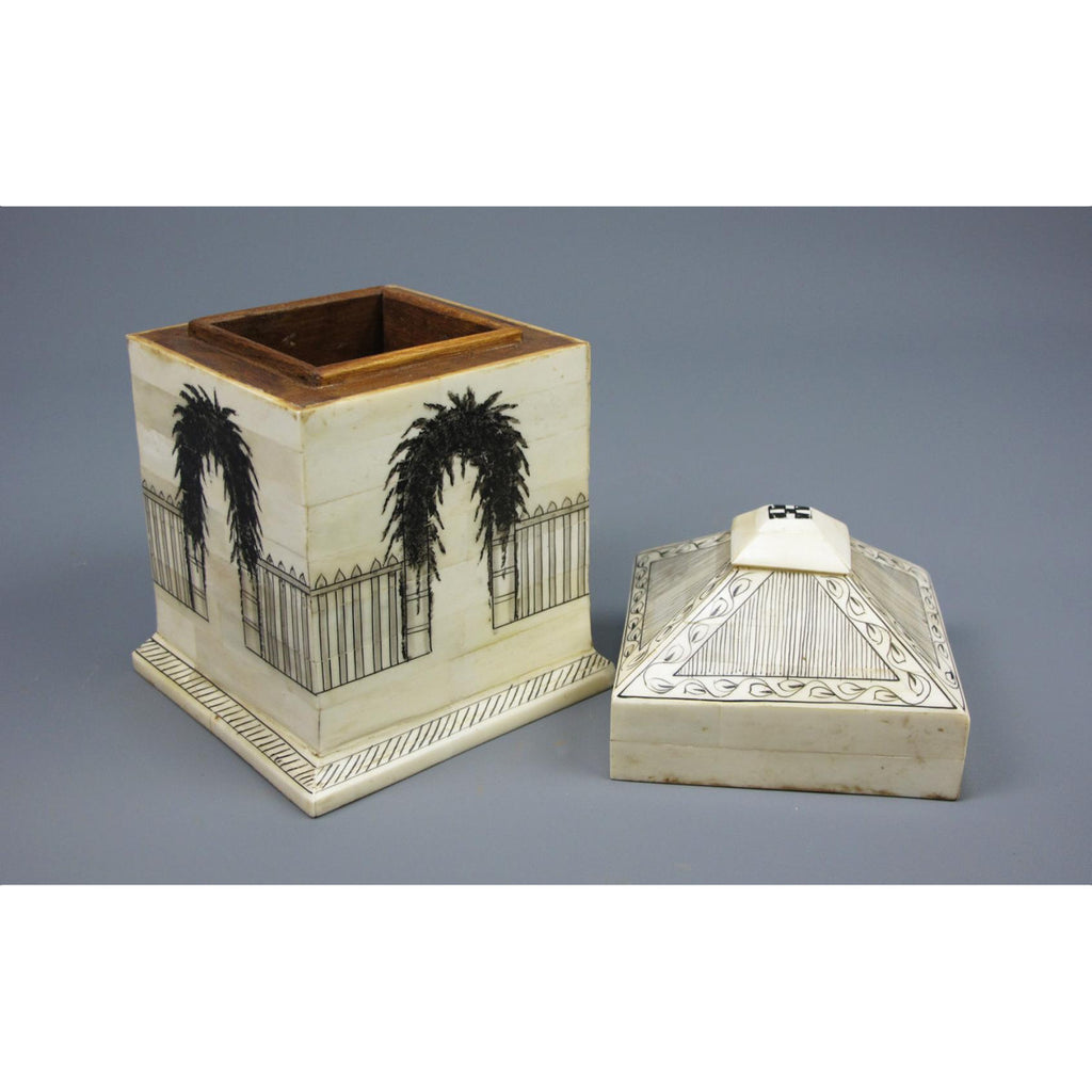 Inlaid Camel Bone Decorative Box