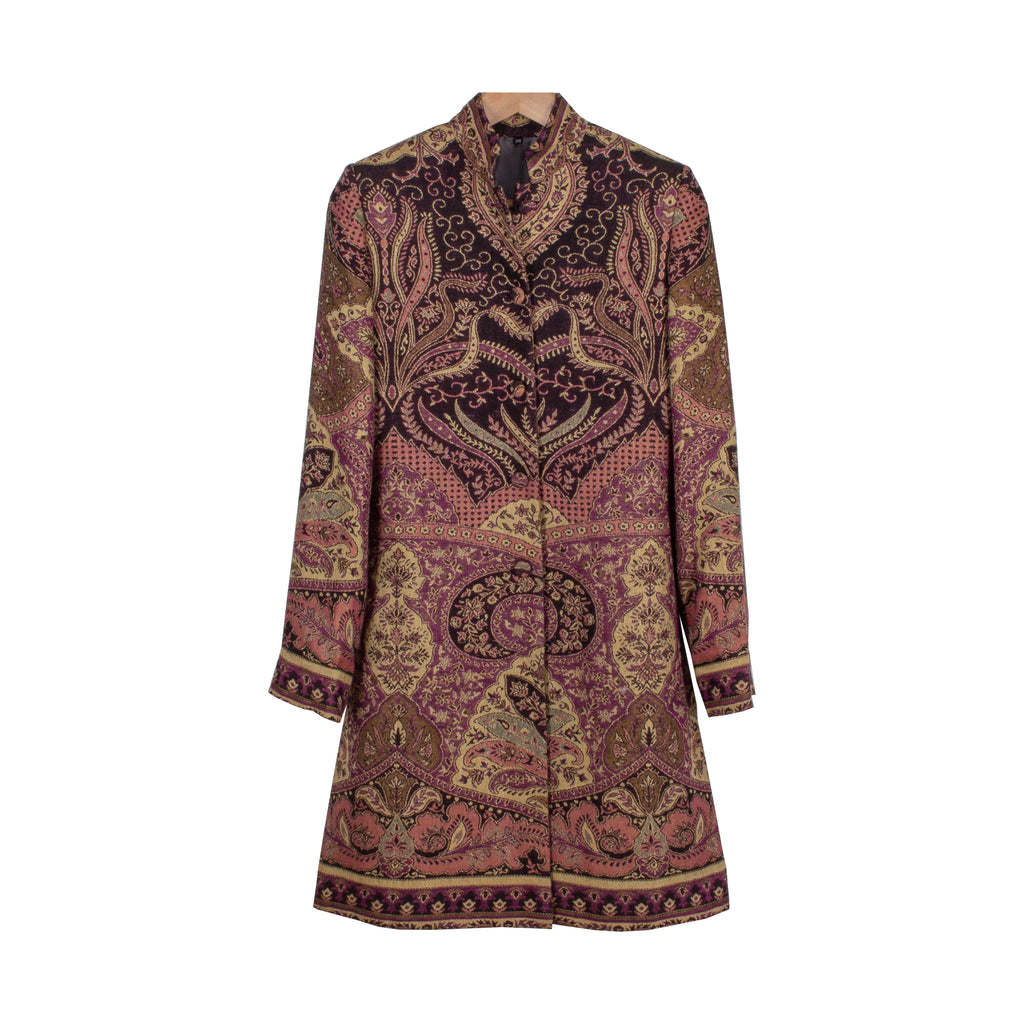 Luxurious Cashmere & Silk Coat from India | Made to Order