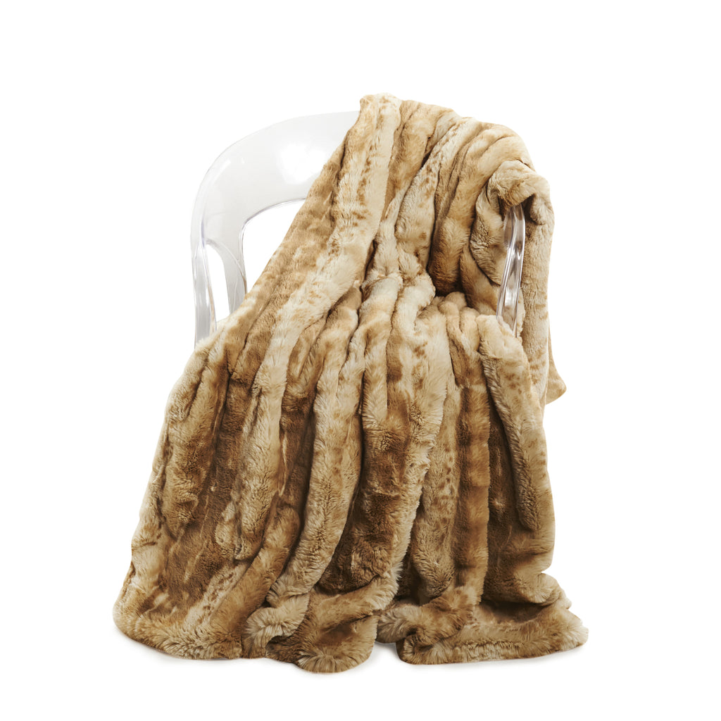 Blonde Mink Faux Fur Throw