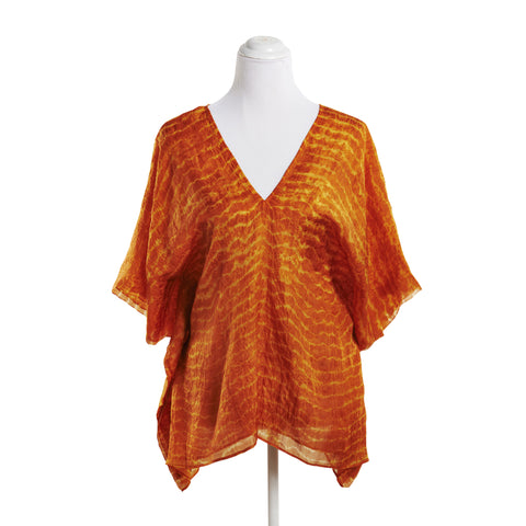Eric Raisina Silk Kaftan Top