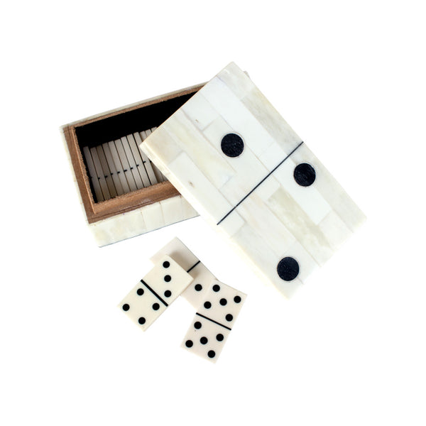 Inlaid Bone Domino Set