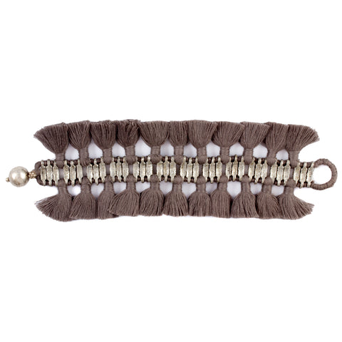 Double Charming Bracelet in Taupe - Handmade in Egypt
