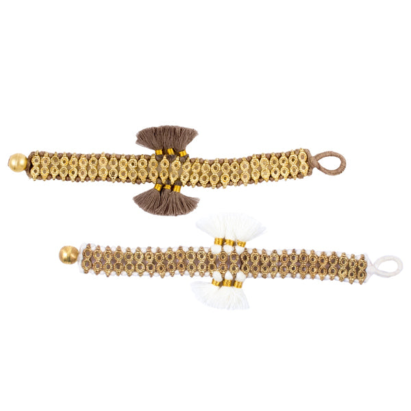 Double Trio Tassel Bracelet - Handmade in Egypt (Two Colors)