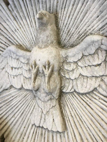 "Stone Dove ""Holy Spirit"" Religious Plaque"
