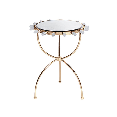 Lola Quartz & Brass Side Table