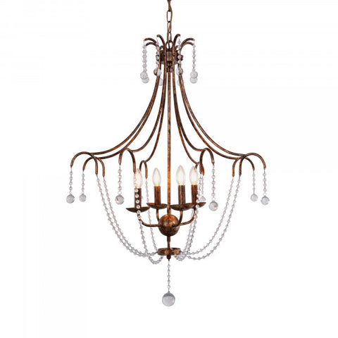 Empire Glass & Metal Chandelier