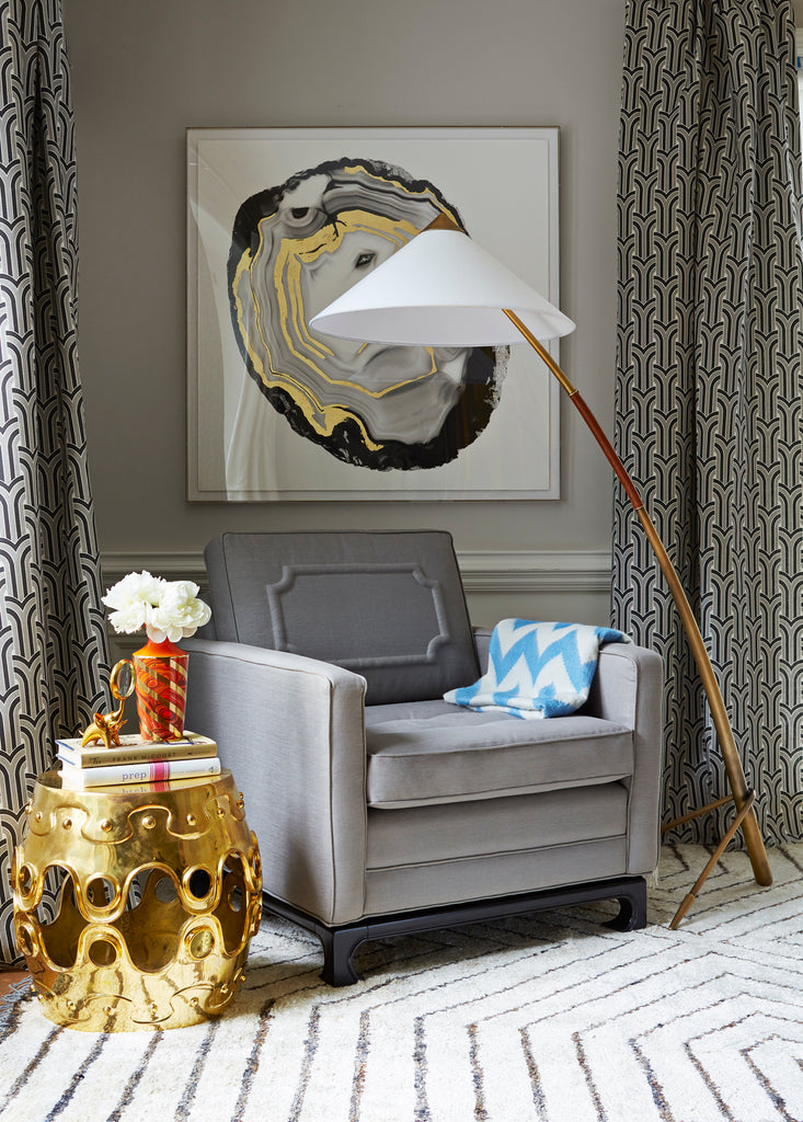 Ulu Brass Convex Side Table by Jonathan Adler